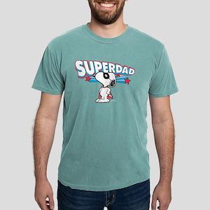 Peanuts Super Dad Mens Comfort Colors Shirt