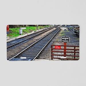Beware of trains Aluminum License Plate