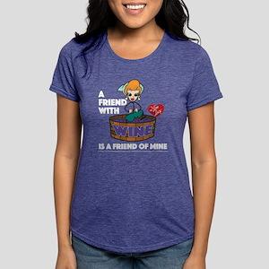 I Love Lucy: Wine Friend  Womens Tri-blend T-Shirt