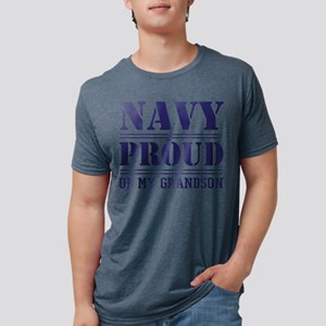 Navy Proud Of Grandson Mens Tri-blend T-Shirt