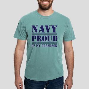 Navy Proud Of Grandson Mens Comfort Colors Shirt