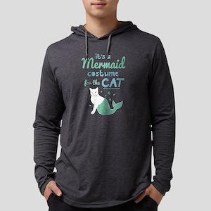 Modern Family Mermaid Cat Mens Hooded Shirt