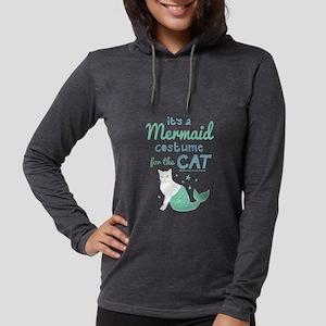 Modern Family Mermaid Cat Womens Hooded Shirt