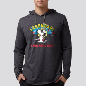 Personalizable Snoopy Legendary Mens Hooded Shirt
