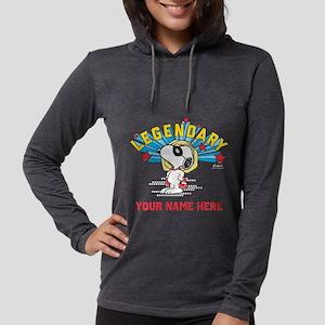 Personalizable Snoopy Legendar Womens Hooded Shirt
