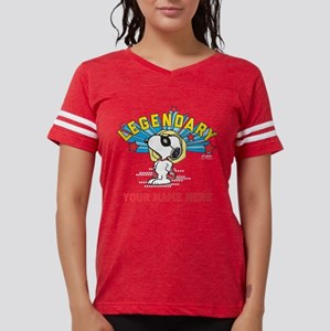 Personalizable Snoopy Legend Womens Football Shirt