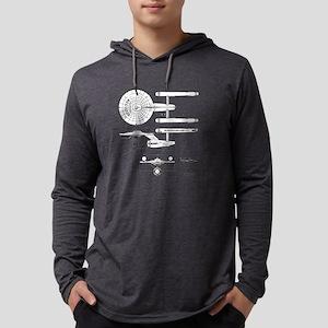 USS Enterprise blueprint - Star  Mens Hooded Shirt