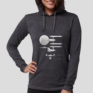 USS Enterprise blueprint - Sta Womens Hooded Shirt