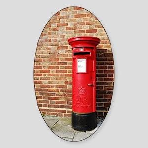 British postbox Sticker (Oval)