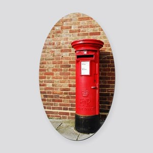 British postbox Oval Car Magnet