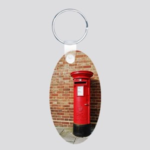 British postbox Aluminum Oval Keychain