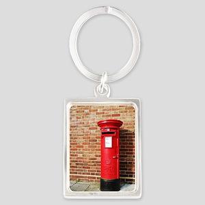 British postbox Portrait Keychain