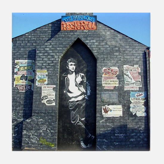 John Lennon Mural, Liverpool UK Tile Coaster