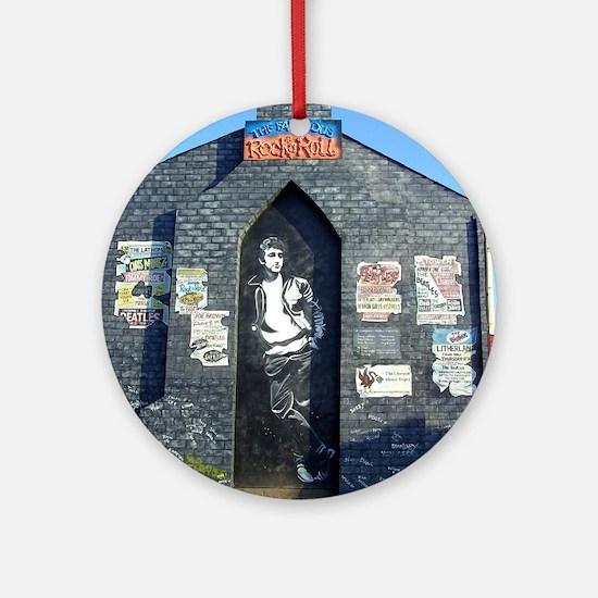 John Lennon Mural, Liverpool UK Round Ornament