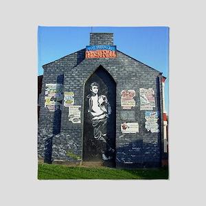 John Lennon Mural, Liverpool UK Throw Blanket