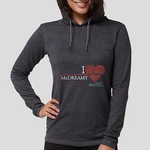 I Heart McDREAMY - Grey's Anat Womens Hooded Shirt