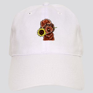 Sunny Chocolate Labrodoodle Baseball Cap