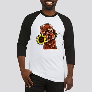 Sunny Chocolate Labrodoodle Baseball Jersey