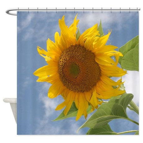 sunflower sky shower curtain by saltern. Black Bedroom Furniture Sets. Home Design Ideas