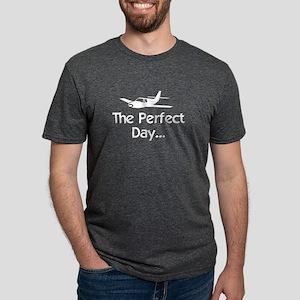 white perfect day airplane  Mens Tri-blend T-Shirt