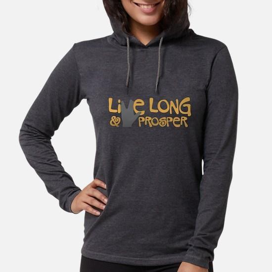 Live Long  Prosper Womens Hooded Shirt
