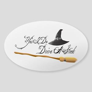 Yes I do drive a stick Sticker (Oval)