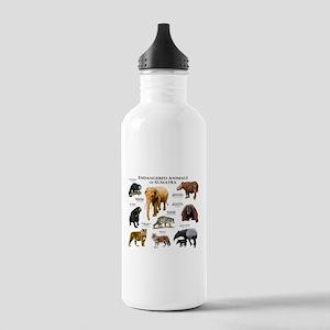 Endangered Animals of Sumatra Stainless Water Bott