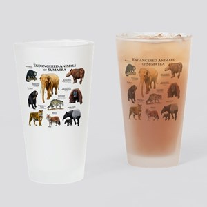 Endangered Animals of Sumatra Drinking Glass