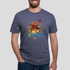 Ms. Marvel & Captain Marvel Mens Tri-blend T-Shirt