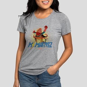 Ms. Marvel & Captain Marv Womens Tri-blend T-Shirt