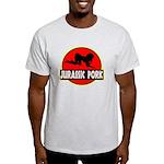 Jurassic Pork Ash Grey T-Shirt