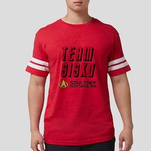 Star Trek Team Sisko Black Mens Football Shirt