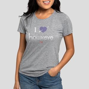 I Heart Hawkeye Purple Da Womens Tri-blend T-Shirt