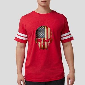 American Flag Skull Mens Football Shirt