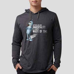 Futurama Bender Immortality Dark Mens Hooded Shirt