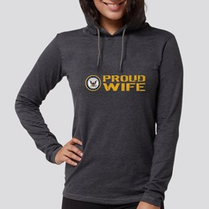 U.S. Navy: Proud Wife Womens Hooded Shirt