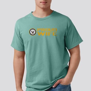 U.S. Navy: Proud Wife Mens Comfort Colors Shirt
