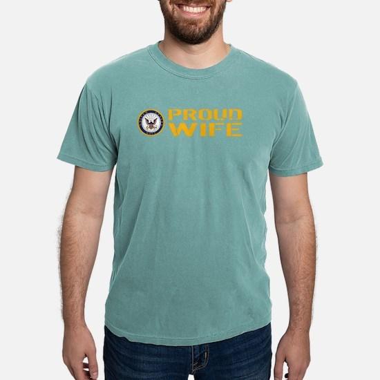 U.S. Navy: Proud Wife Mens Comfort Colors Shirt