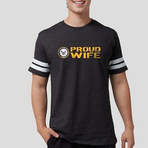 U.S. Navy: Proud Wife Mens Football Shirt