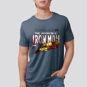 292313_Personalized Invinci Mens Tri-blend T-Shirt