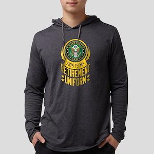 Army Retirement Uniform Mens Hooded Shirt