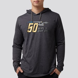 Star Trek 50 Years Warp Speed Mens Hooded Shirt
