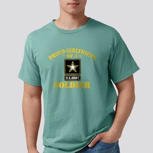 proudarmygirlfriend33b Mens Comfort Colors Shirt