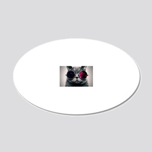 Space cat 20x12 Oval Wall Decal