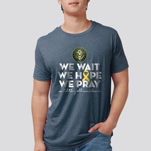 Army We Wait Hope Pray Mens Tri-blend T-Shirt