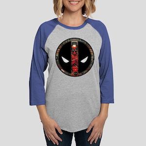 Deadpool Logo 2 Womens Baseball Tee
