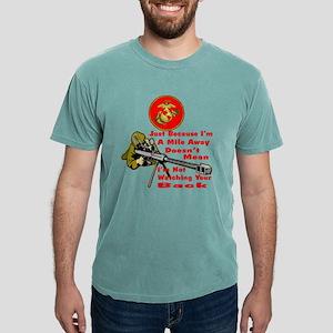 blk_cp_USMC_mile_away_wa Mens Comfort Colors Shirt