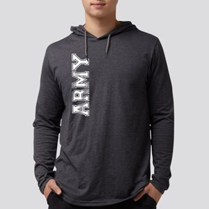 Army verticle black t Mens Hooded Shirt