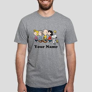 Peanuts Walking No BG Perso Mens Tri-blend T-Shirt