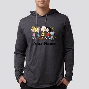 Peanuts Walking No BG Personaliz Mens Hooded Shirt